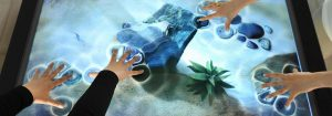 Interactive multitouch displays and mobile app development