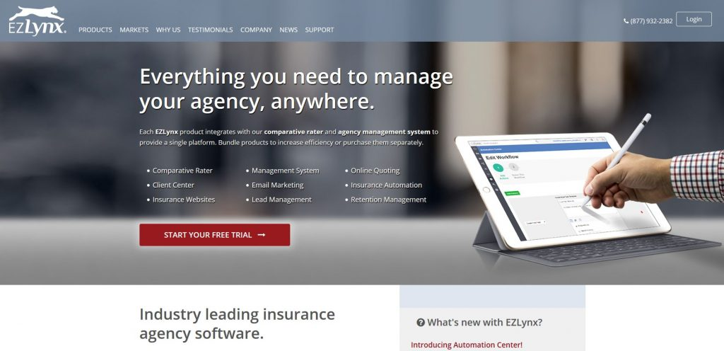Best insurance software companies - Ezlynx