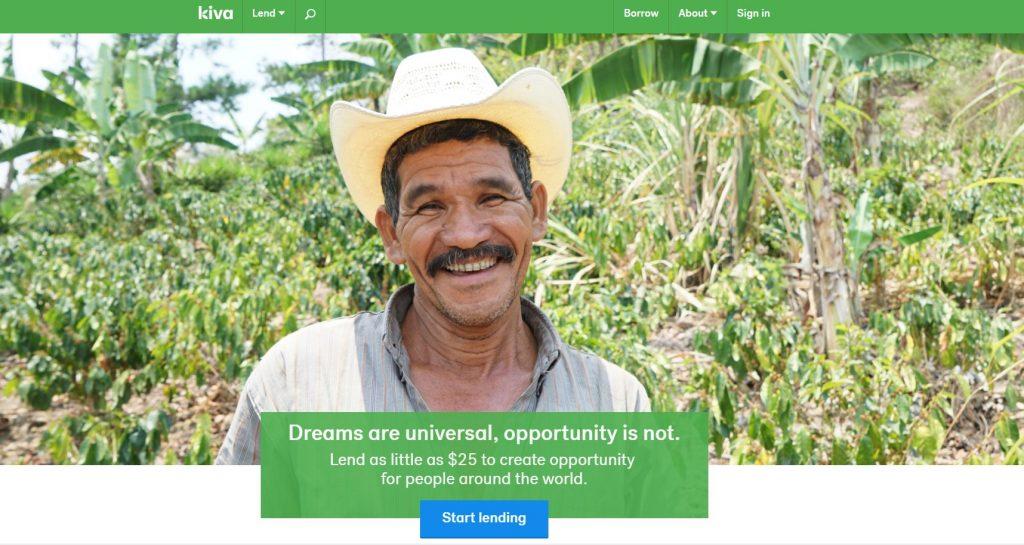 Kiva - Peer to Peer lending companies
