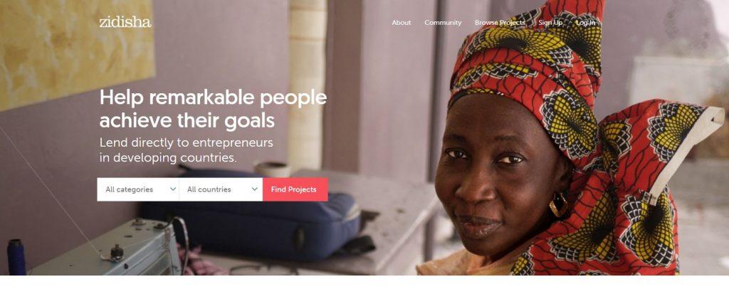 Zidisha - Peer to Peer lending companies