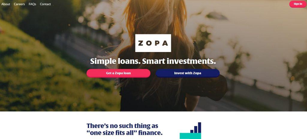 Zopa - Peer to Peer lending companies