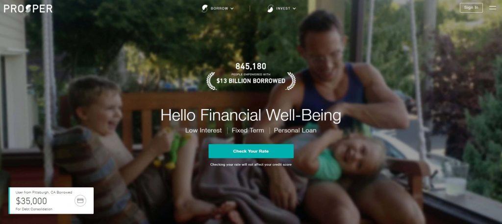 P2P lending companies - Prosper